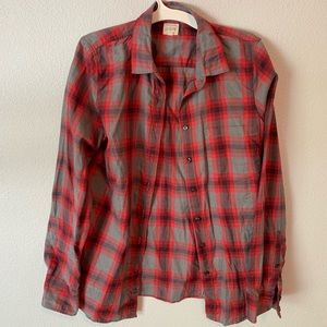 Red/Grey J Crew Flannel - Size S